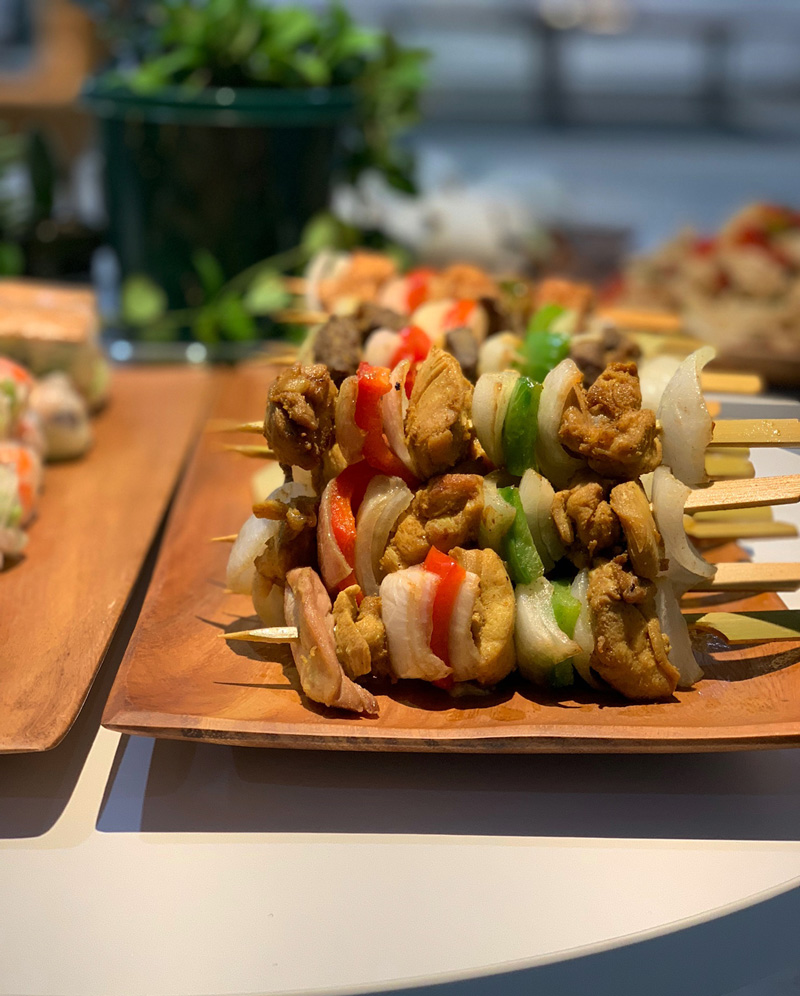 Grilled Sate Chicken Skewers by Chao Catering